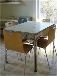 Metal Kitchen Table And Chairs Kitchen Retro Metal Kitchen Table Sets Ebay Vintage Chrome