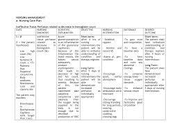 Nanda Nursing Diagnosis Anemia Nursing Care Plan Nursing Care Plan Examples