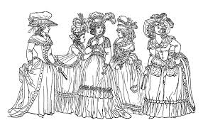 drawing of women from the 18th century representing the fashion style of this era