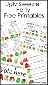 ugly sweater party printables the country chic cottage printable party pack for your ugly sweater party grab invitations awards and more