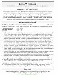 Good Medical Practice Manager Resume Sample Practice Resume