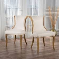 lexia dining chair beige set of christopher knight home