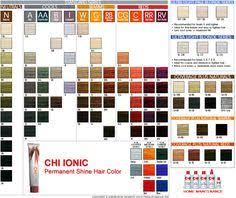 Professional Hair Color Swatches Shade Chart For Chi Ionic