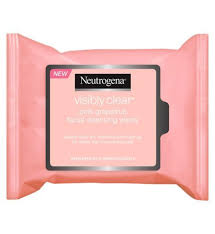neutrogena visibly clear pink gfruit cleansing wipes boots clearskinremes