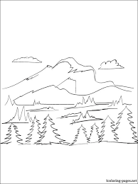 Small Picture Mountain coloring page Coloring pages