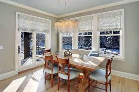 dining room windows. Perfect Room 1 Roman Shades Throughout Dining Room Windows Home Design Lover