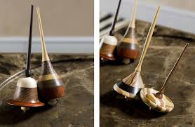 each spinning top is handmade each one of them turned on lathe by domenico our skilled toymaker and mastro trottolaio