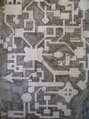 Smaller Dungeon Map 5 Squares Per Inch Paper Smaller Area Flickr