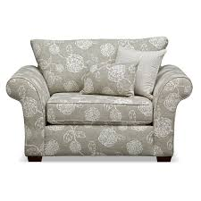 gray fl patterned fabric living room chair and a half recliner comfy chair and a