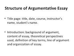 types of academic writing  12 structure of argumentative essay