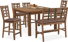 Hampton Counter Height Dining Table 4 Stools And Bench