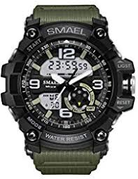 amazon com 50mm over wrist watches watches clothing shoes men s military digital analog sports stylish watch waterproof outdoor electronic led backlight display alarm stopwatch black