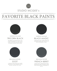 Tricorn Black Sherwin Williams Ask Studio Mcgee Our Favorite Black Paints Studio Mcgee