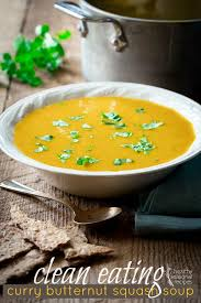 curry ernut squash soup in a bowl