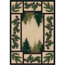area rugs 3x4 pine forest