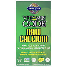 vitamin code raw calcium by garden of life contains a calcium formula with raw mk 7 magnesium plus vitamin d3 for bone building and bone health support