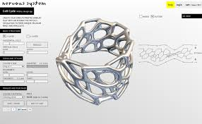 cell cycle 3d printable jewelry design app inspired by