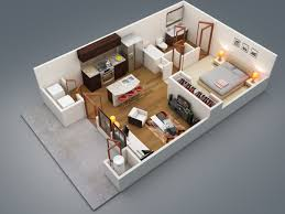 One Bedroom Flat Interior Design 1 Bedroom Apartment House Plans