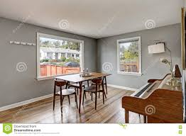 Gray Dining Room Interior With Piano Stock Photo Image 79571266