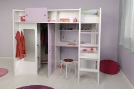 Compact Cot Girls Desk Bunk Bed