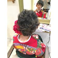 袴着付けヘアアレンジショートヘア Libertyリバティのヘア