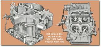 dodge cars dart polara and matador 361 carburetors