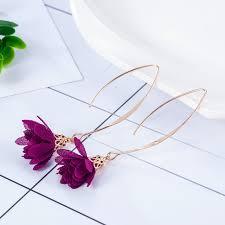 2019 New <b>Fashion Women Drop</b> Earrings Flowers Tassel <b>Bohemian</b> ...