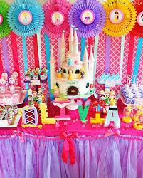 disney princess party dessert table jasmine jewel party favors