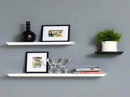 image of white wall shelves target