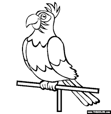 Parrot2 bird online coloring pages page 1 on creative coloring birds