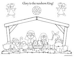 Small Picture coloring pages nativity 100 images nativity coloring pages