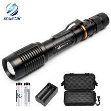Đèn LED Siêu Sáng Đèn Pin T6/L2 Đèn Pin Chống Nước Phóng To Đèn Pin Led 2 X Pin  18650 Nhôm + Sạc + Tặng Hộp + Tặng Quà Tặng|zoomable led torch