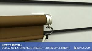coolaroo exterior sun shade installation overview crank style controls raquo exterior solar shades how to install blinds com gallery