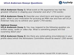 ucla anderson ucla anderson essays questions the content in the file is copyright of the author and apphelp