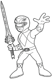 Power Rangers Coloring Pages Mighty Morphin Power Rangers Coloring