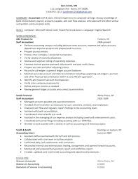 Example Of Accounting Resume Fascinating Resume Examples For Accounting Jobs Federal Job Resume Sample