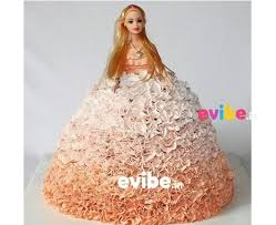 Order Cute Barbie Doll Theme Cake Online Birthday Cake In