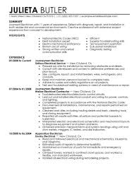 Sample Of Electrician Resumes Best Journeymen Electricians Resume Example Livecareer