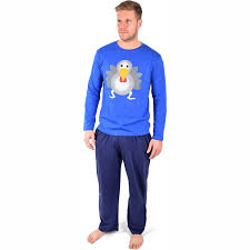 Mens Novelty Christmas Xmas Pyjama Set Present PJ Night Sleep Wear ...