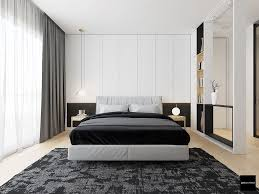 Bedroom Designs: Chiffon Curtaining Modern Black And White Bedrooms - Black  White Bedroom