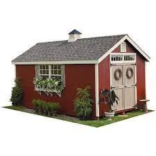 14 ft wood storage shed diy kit