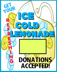 Fundraiser Poster Ideas Create A Ice Cold Lemonade Stand Promotion Poster Fundraising
