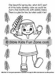 Palm Sunday Coloring Book And Story Book That Rhymes For Kids