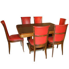 original french art deco modernist dining table and chairs 1930 s