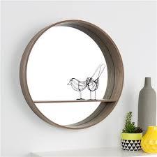kmart round mirror with shelf