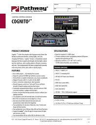Cognito Lighting Console Cognito Datasheet Manualzz Com
