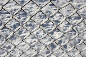 chain link fence texture. Chain Link Fence Coated With Snow Texture