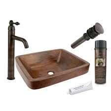 Copper Bathroom Accessories Sets Copper Vessel Sinks Bathroom Sinks Bath The Home Depot