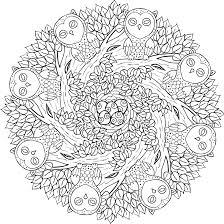 Old Souls Free Printable Mandala Coloring