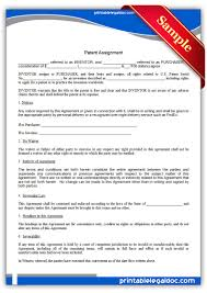 Patent Assignment Form Free Printable Patent Assignment Form GENERIC 15